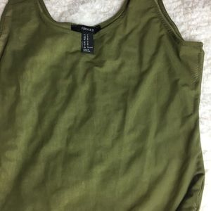Forever 21 Other - Sheer green body suit with snap buttons.